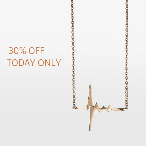 Amour Heartbeat Necklace - 18k rose gold
