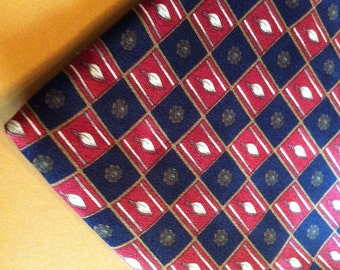 Vintage Men's Lanvin Paris Tie. Designer Pure Silk Men's Fashion Accessory / Vintage Fabric Men's Tie / Unique Gift for Him / Luxury Tie