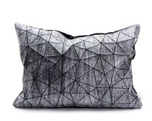 Black and white origami geometric pillow cover 55x40 cm, 21.6X16 inch, Printed folding cushion, Home decor accessory