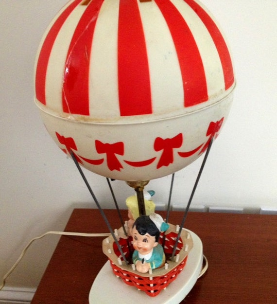 Sale Vintage Hot Air Balloon Lamp Night Light Dolly Toy Co