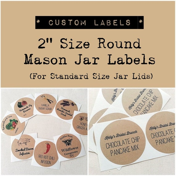 Custom Mason Jar Labels Stickers. Wedding Favor Labels. Product Labels ...
