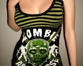 Diy Glow In The Dark  ZOMBIE APOCALYPSE Top Mini Dress Tunic Top Walking Dead Top Mini Dress Tunic Top Daryl Dixon Top Halloween Dress Top