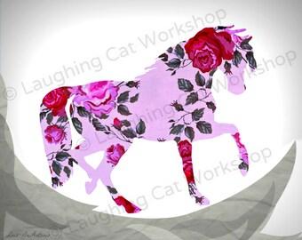 Horse print teen girls bedroom decor horse silhouette for Bedroom ideas for horse lovers