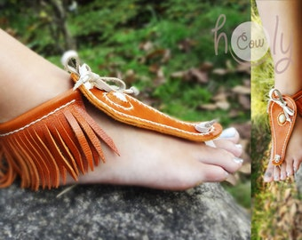 Handmade Sandals, Leather Sandals, Barefoot Sandals, Womens Sandals, Mens Sandals, Mens Leather Sandals, Hippie Sandals, Orange sandals
