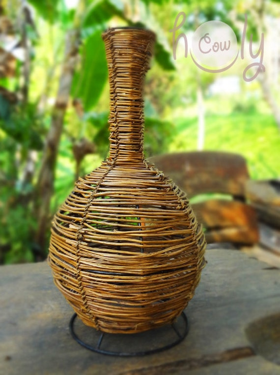 Beautiful Homemade Lamps : Beautiful handmade rattan lamp shade