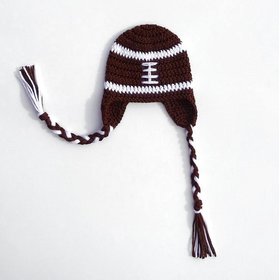 Download PDF Crochet Pattern Football Earflap Hat Football