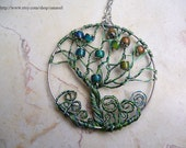 Ever changing tree of life pendant, Mood bead pendant, Wire wrapped pendant, mood necklace, mood jewelry