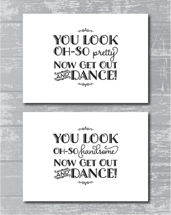 Instant Download Oh So Pretty Amp Handsome Bathroom Signs