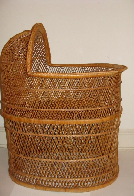 Antique Wood Bassinet