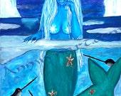 Ice Mermaid - Art print