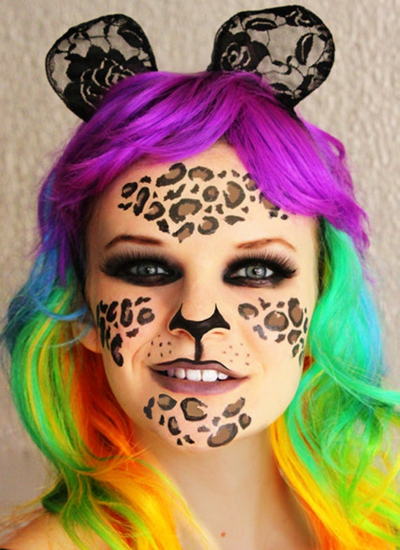 Cool Cat Face - Temporary Tattoos For Cat Costumes