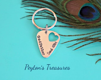 godfather and godmother keychains hand stamped by peytonstreasures. Black Bedroom Furniture Sets. Home Design Ideas
