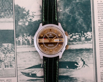 Beautiful and collectible, Breil, automatic alarm vintage 70's watch.
