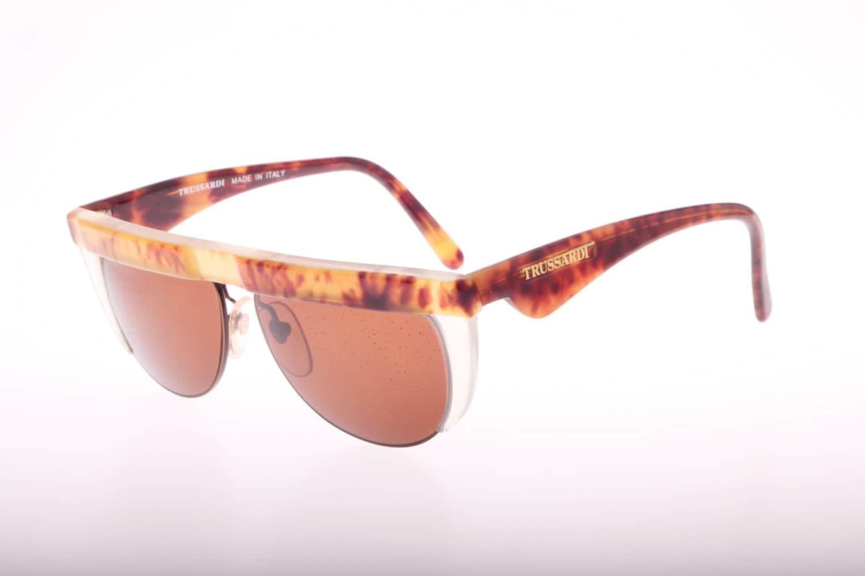 Best Lightweight Glasses Frames : Trussardi outstanding vintage flat top sunglasses light