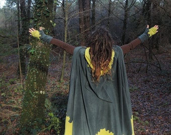 Night Shadow Long hooded cloak - Made to order - Choose your colors