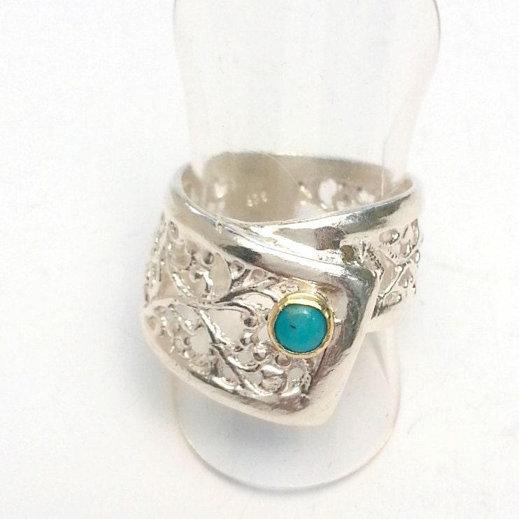 turquoise gemstone ring unique engagement ring handmade