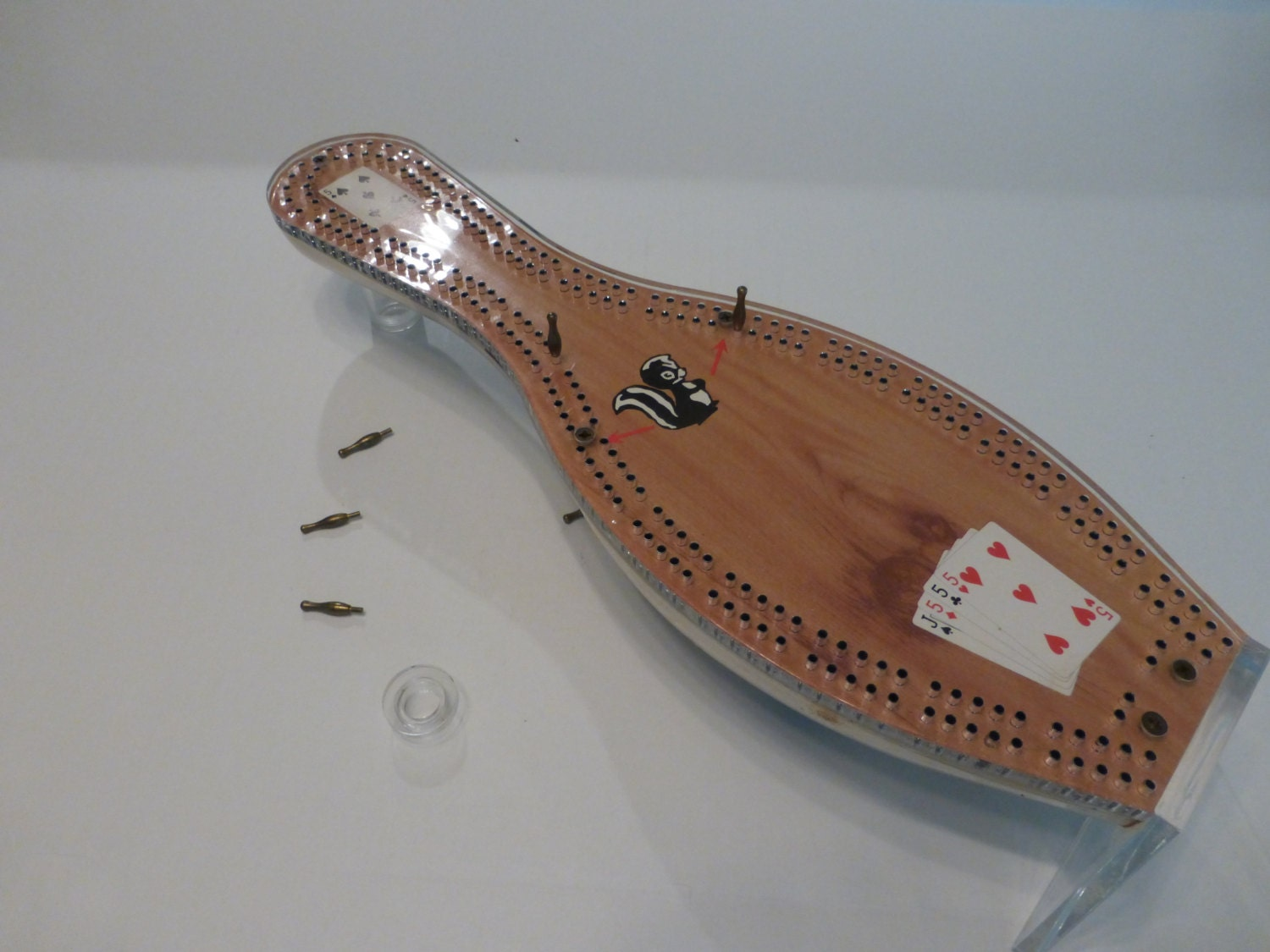 Bowling Pin Cribbage Board