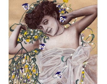 Print reproduction of an original Art Nouveau painting, french poster by Tuulia Tamminen - Size A3