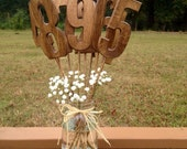 Rustic Wedding Table Numbers - Shabby Chic Wedding - Wooden Table Numbers - Rustic Wedding - Country Barn