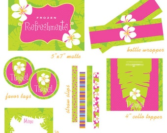 LUAU Birthday Party Printable Collection from The Celebration Shoppe