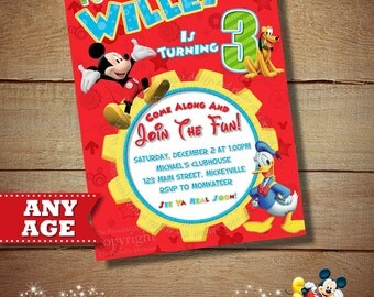 HUGE SELECTION Clubhouse Mickey Birthday Invitation, Mickey Mouse Invitation, Mickey Mouse Clubhouse, Toodles Invitations, Mickey Printables