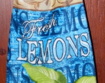 Fresh Lemons Crochet Top Large Size Towel