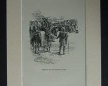 1952 Vintage Medieval Knight Print - Arthur George Walker Wall Art - William Gift - Jousting Decor - Medieval Art Print - Available Framed