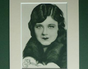 Antique Lillian Rich Print - Old Hollywood Art - Antique Movie Decor - Silent Film Star - Cinema Photograph - Art Deco Print - Pretty Girl