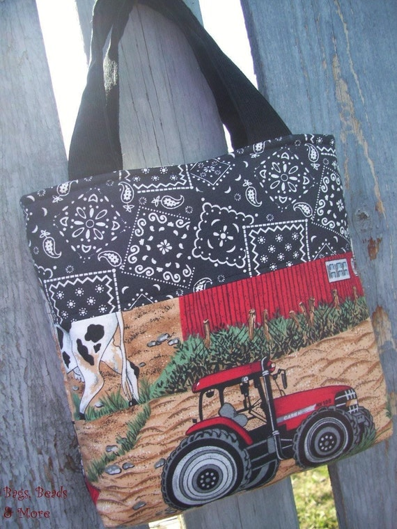Boys Tractor Tote, Toddler Toy Bag