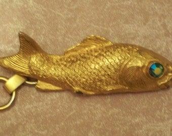 Judith Lieber Gold Gilt Chain Fish Belt