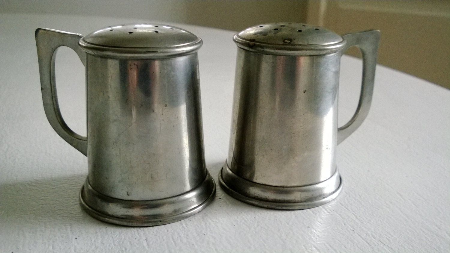 Pewter Tankard Salt And Pepper Shakers By Cassandrasnotebook