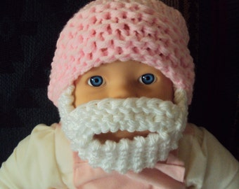 Baby Beard Hat Baby Beanie Baby Hat Knit Baby Hat Face Mask New Born Hat Baby Shower Gift 0-18 months