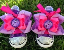 TWILIGHT SPARKLE SHOES - My Little Pony Party - Twilight Sparkle Costume - My Little Pony birthday - Bling Converse - Infant/Toddler/Youth