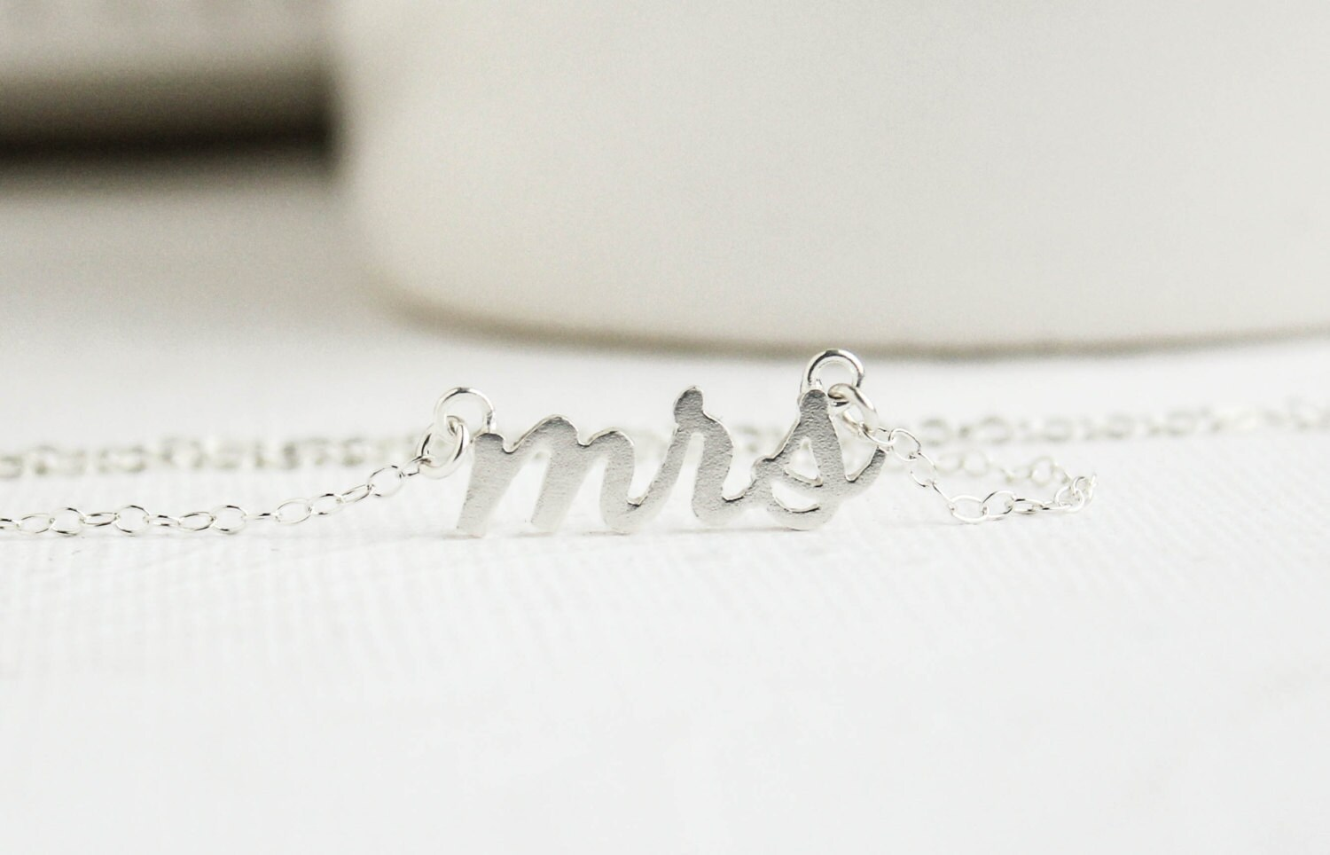 Wedding Gift Jewelry: Mrs Necklace Silver Mrs Necklace Soon To Be Mrs By