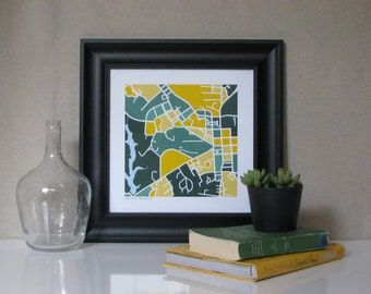 William & Mary Map Print