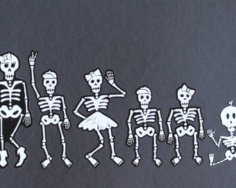 Day of the Dead Art Family Car Stickers #10-24