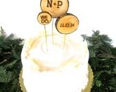 Wedding Cake Topper, Rustic Wedding Cake Topper, Country Wedding