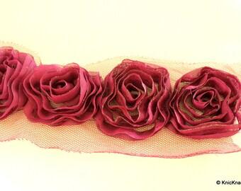 Mauve Rose One Yard Lace Trims 9cm Wide