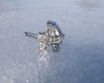 Sterling Silver Baby Carraige Charm