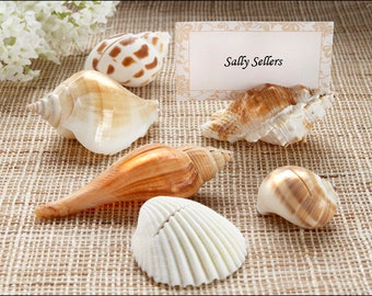 Sea Shells Place Card Holder set of 12