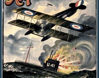 WWI British Royal Air Force Poster , Print