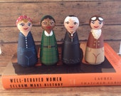 Made to Order:  Set of 4 History Making Women Peg People