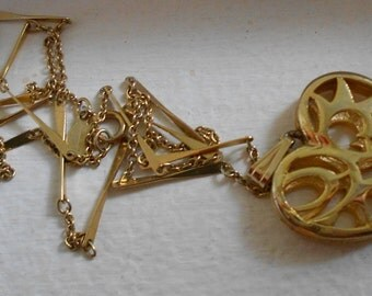 Vintage Avon heart necklace and funky chain