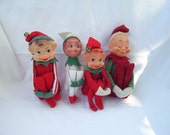 Large Knee Hugger Pixie Elves Lot of 4 Or Pick One or More Elves with Custom Order Individual Prices Below