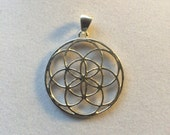 Sacred Geometry Seed of Life Pendant set in 925 Sterling Silver
