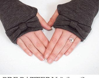 Fingerless Gloves Sewing Pattern. Arm Warmer Pattern - PDF Sewing pattern