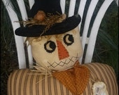 Country Scarecrow Bust Shelf Sittter Fall Decor