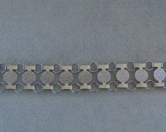 Sarah Coventry Disco-Tek Bracelet 9875  Vintage, Silver