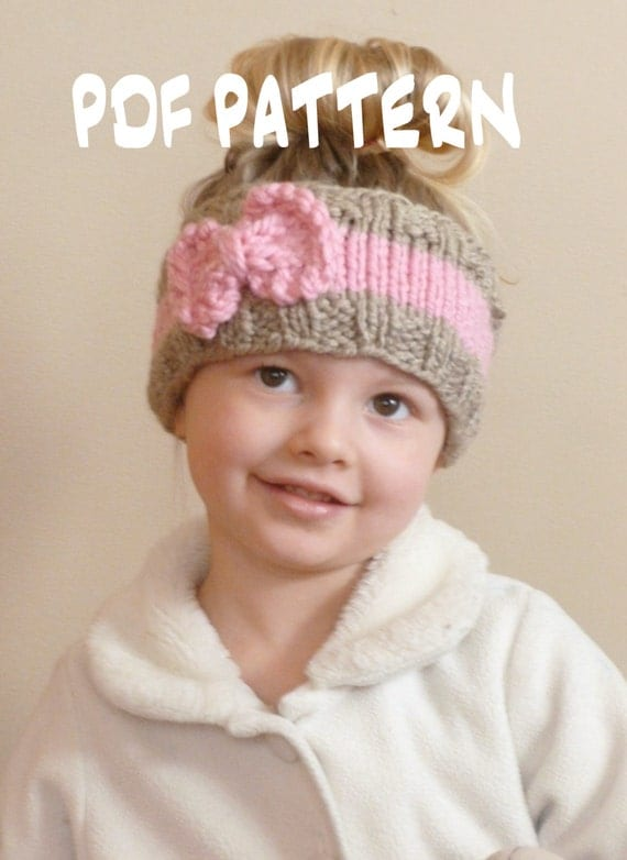 KNITTING PATTERN The Bo Peep Headband Toddler Knit Ear Warmer