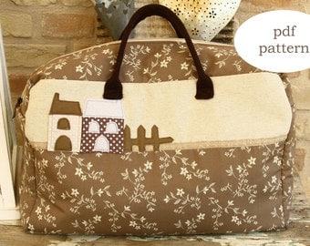 PDF pattern weekender bag - sewing pattern weekender bag - big bag pattern - sewing pattern bag